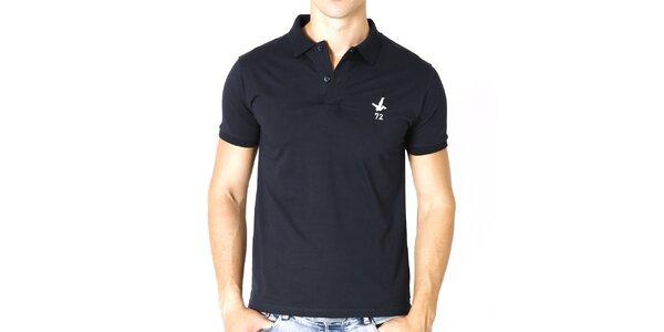 Pánske tmavo modré polo tričko s krátkym rukávom Santa Barbara