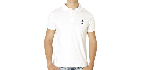 Pánske biele polo tričko s krátkym rukávom Santa Barbara
