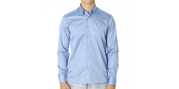 Pánska svetlo modrá bavlnená košeľa Santa Barbara