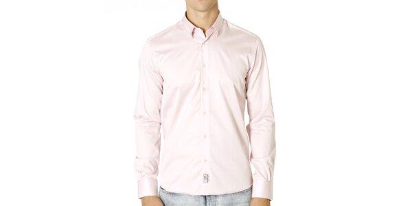 Pánska svetlo ružová bavlnená košeľa Santa Barbara