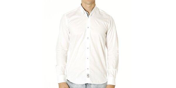 Pánska biela košeľa s nášivkou Santa Barbara