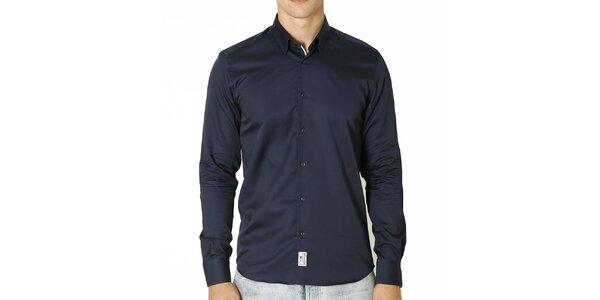 Pánska tmavo modrá košeľa s dlhým rukávom Santa Barbara
