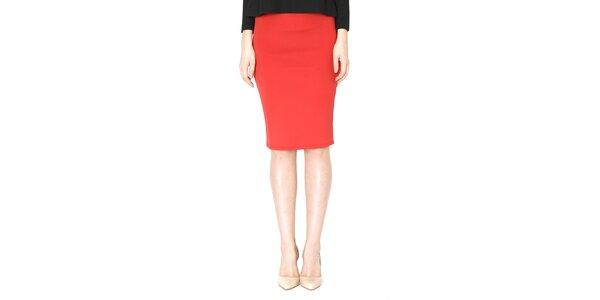 Dámska červená púzdrová sukňa Santa Barbara