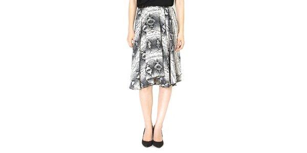 Dámska vzorovaná šedá voľná sukňa Santa Barbara