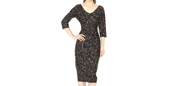 Dámske šaty s hnedým vzorom Santa Barbara