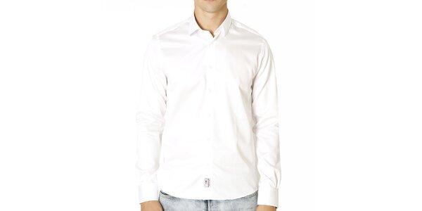 Pánska biela bavlnená košeľa Santa Barbara
