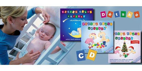3 CD s hudbou detská hracia skrinka - špeciálna akcia pre deti