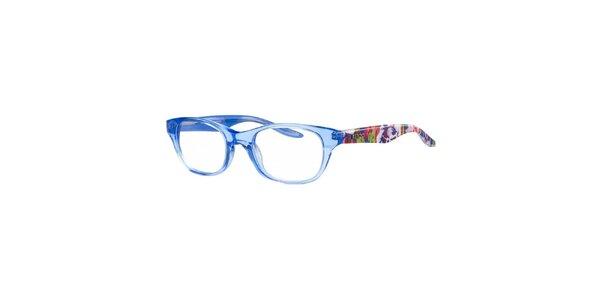 Svetlo modré transparentné obruby s farebnými stranicami Kenzo