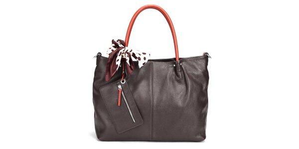 Tmavo hnedá elegantná kabelka Belle & Bloom