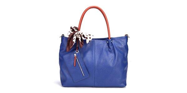 Dámska tmavo modrá kabelka Belle & Bloom s kontrastnými uchami