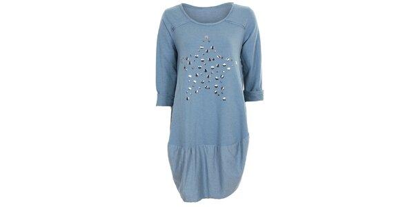 Dámske modré tunikové šaty Sugar Crisp