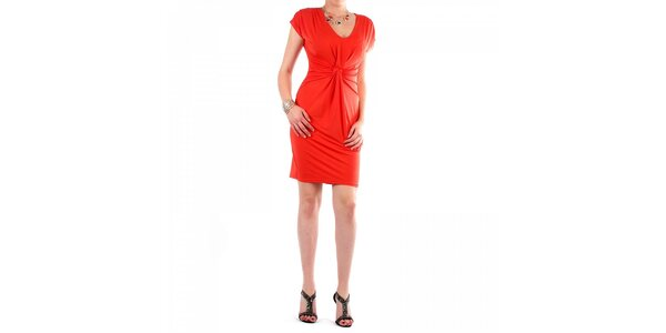 Dámske sýto oranžové šaty Fifilles se Paris
