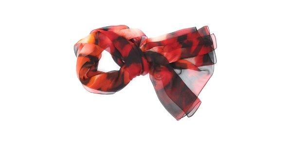 Dámska červeno-čierna šatka Fraas