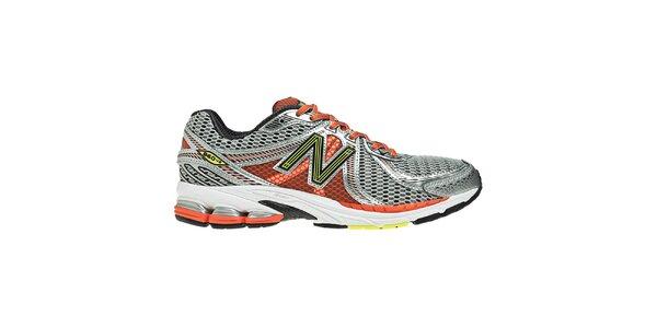 Pánske strieborno-oranžové tréningové topánky New Balance