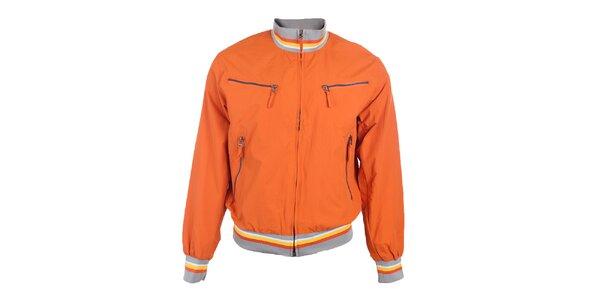 Pánska oranžová bunda s náprsnými vreckami Timeout