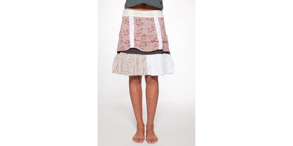 Dámska rúžovo biela vrstvená sukňa Ian Mosh