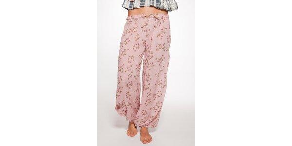 Svetlo ružové volné nohavice Ian Mosh
