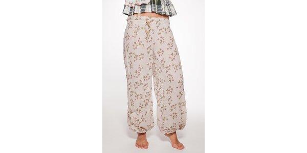 Krémové volné nohavice Ian Mosh