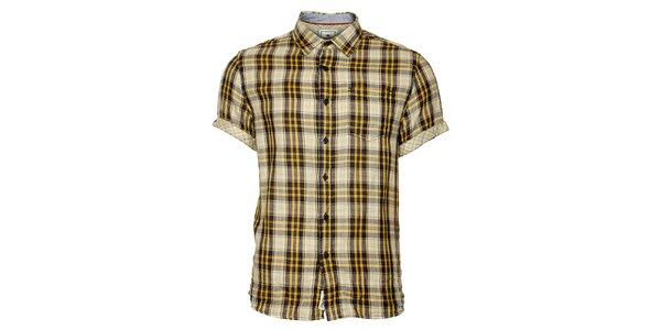 Pánska kockovaná košeľa Timeout s krátkym rukávom