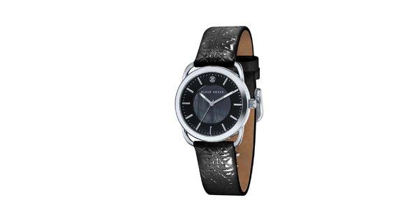 Dámske čierne hodinky Klaus Kobec