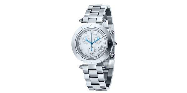 Dámske strieborné hodinky s nápisom na lunete Klaus Kobec