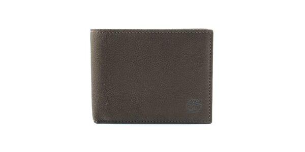Pánska tmavo hnedá kožená peňaženka Timberland