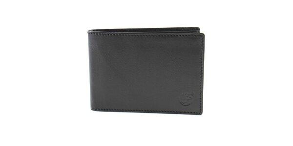 Pánska kožená peňaženka v čiernom prevedení Timberland