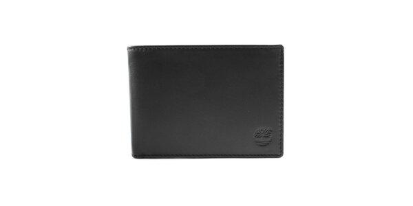 Pánska hladká peňaženka v čiernej farbe Timberland