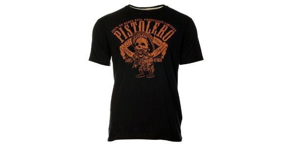 Pánske čierne tričko Timeout