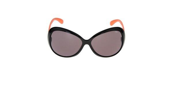 Dámske slnečné okuliare s oranžovými stranicami Fila