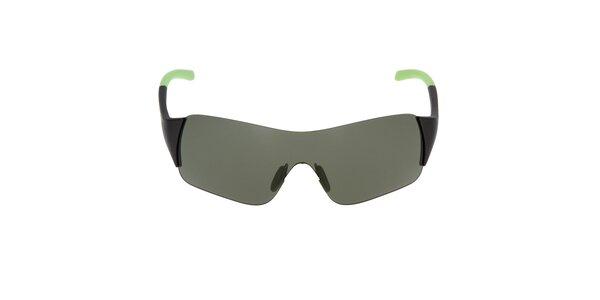 Slnečné okuliare so zeleným zakončením straníc Fila