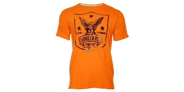 Oranžové pánske tričko Timeout