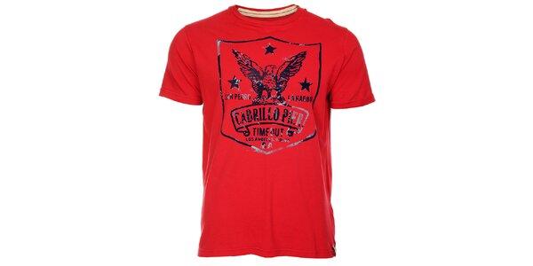 Sýto červené pánske tričko Timeout