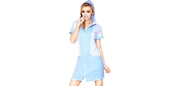 Dámske svetlo modré domáce šaty Wanmar