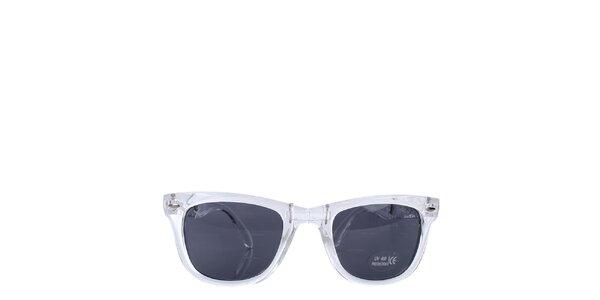 Biele transparentné slnečné okuliare Wize & Ope