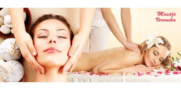 Zdravotná masáž chrbtice alebo masáž tváre