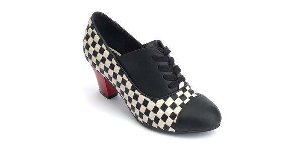 Dámske členkové topánky so šachovnicou Lola Ramona