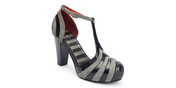 Dámske pruhované topánky s prackou Lola Ramona