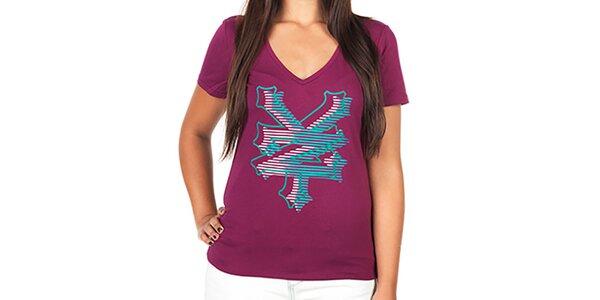 Dámske tričko s farebnými písmenami Zoo York