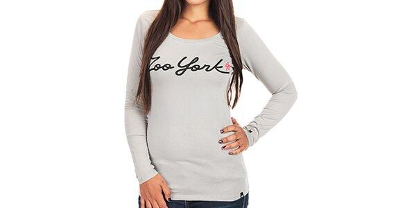 Dámske tričko s dlhým rukávom a nápisom Zoo York