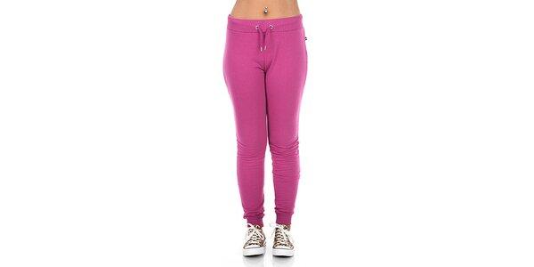 Dámske ružové bavlnené nohavice s logom Zoo York