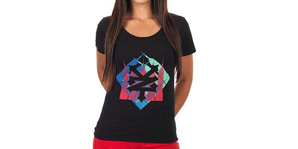 Dámske čierne potlačené tričko Zoo York
