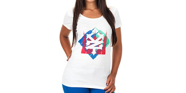 Dámske biele potlačené tričko Zoo York