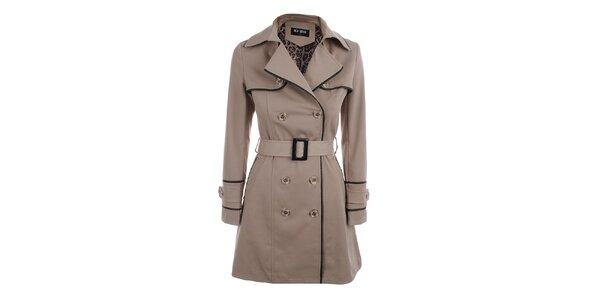 Dámsky béžový dvojradový kabát Blue Deise