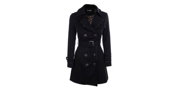 Dámsky čierny dvojradový kabát Blue Deise