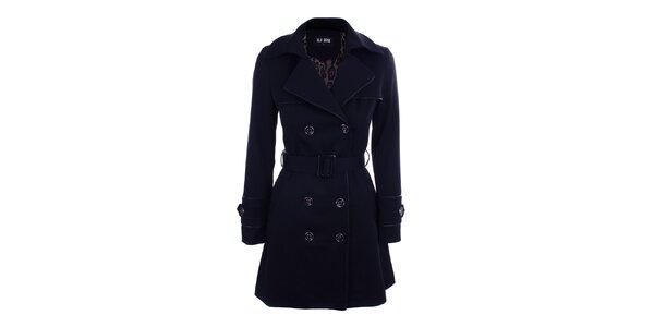 Dámsky modrý dvojradový kabát Blue Deise