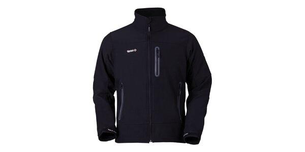 Pánska čierna bunda na zips Izas