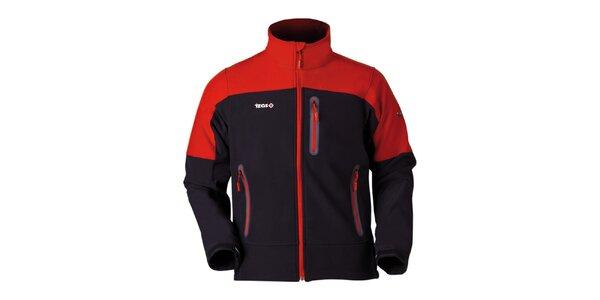 Pánska oranžovo-čierna bunda na zips Izas