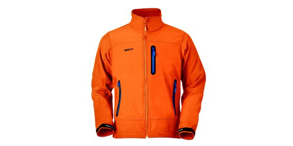 Pánska oranžová bunda na zips Izas