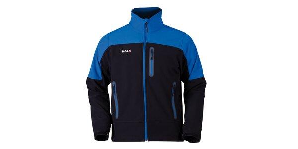 Pánska modro-čierna bunda na zips Izas